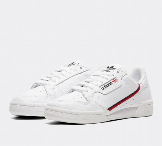 white adidas Originals Continental 80